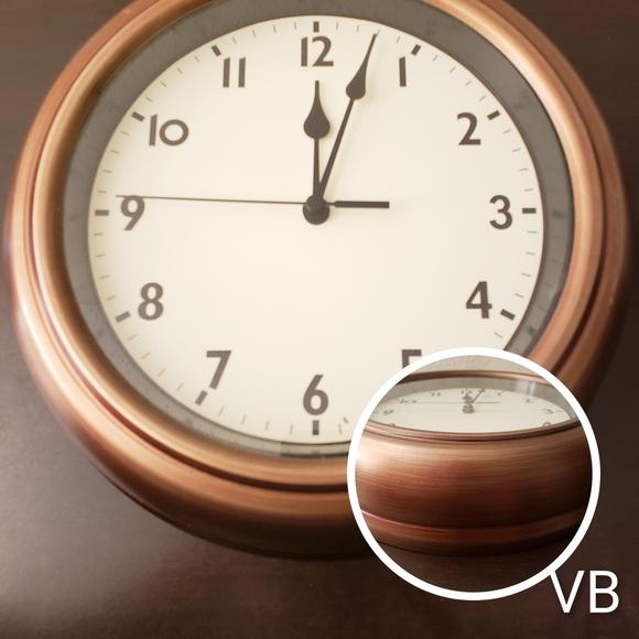 Decorative 10in Metal Rustic Wall Clock.